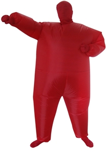 Red Alert Inflatable Costume Fancy Dress