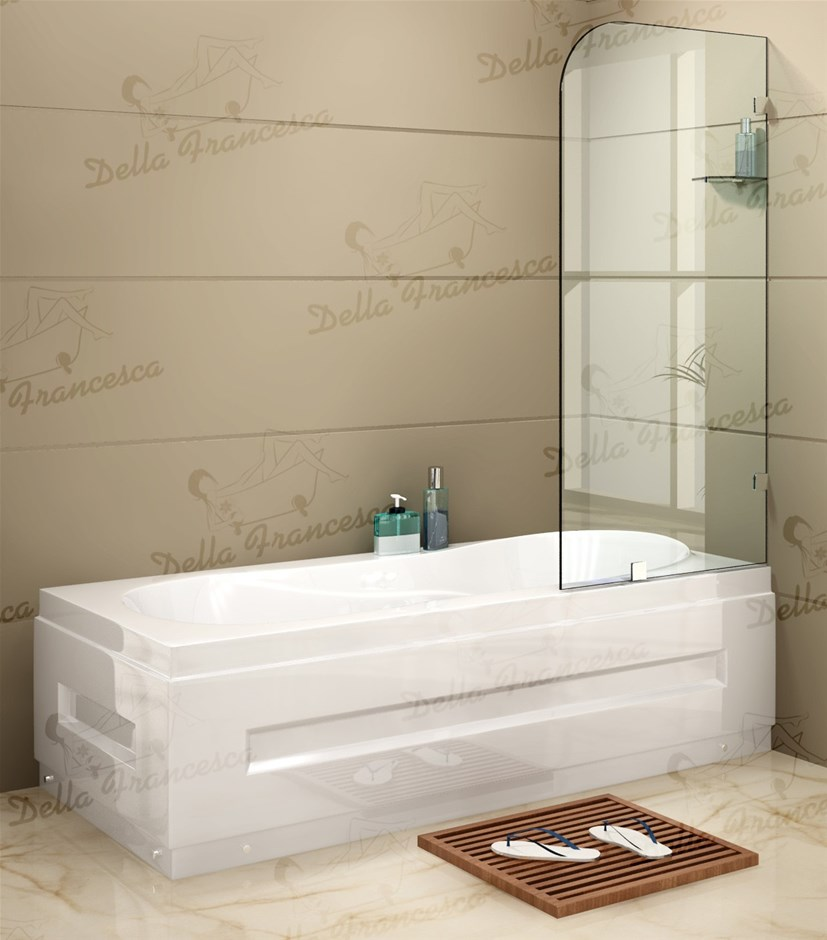700 x 1450mm Frameless Bath Panel 10mm Glass Screen By Della Francesca