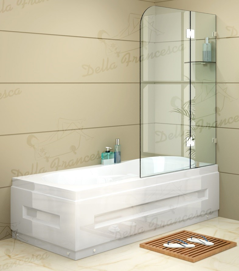 900 x 1450mm Frameless Bath Panel 10mm Glass Screen By Della Francesca