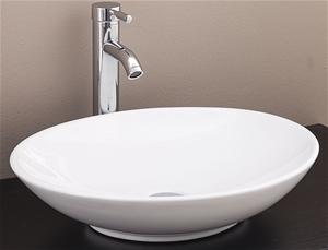 Bathroom Ceramic Oval Above Countertop B