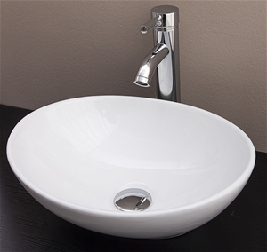 Above Counter Bathroom Vanity Oval Ceram