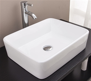 Above Counter Bathroom Vanity Square Bas