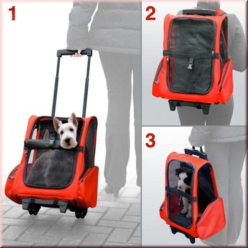 Dog Pet Safety Transport Carrier Backpack Trolley