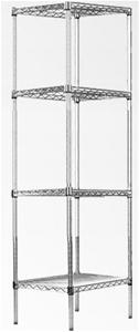 Modular Chrome Wire Storage Shelf 450 x