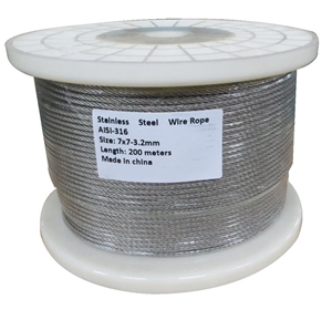 200M G316 STAINLESS STEEL WIRE ROPE 3.2M