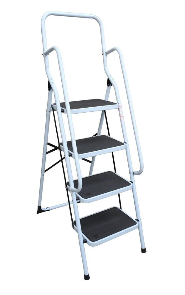 Foldable Non Slip 4 Step Steel Ladder