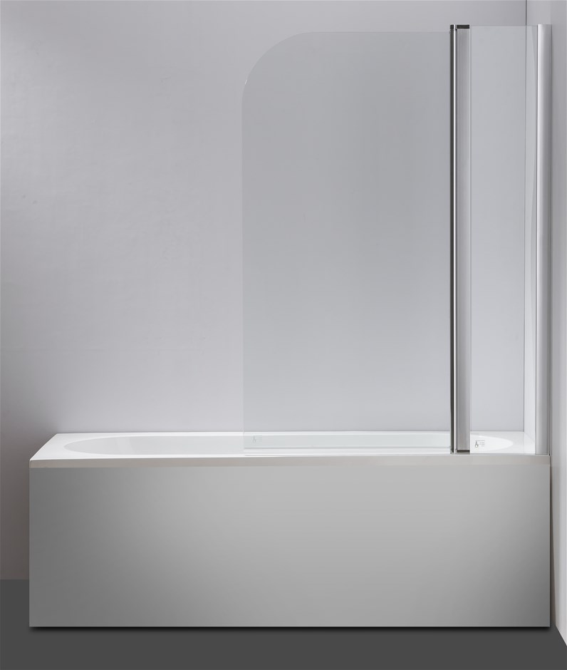 180° Pivot Door 6mm Safety Glass Bath Shower Screen By Della Francesca