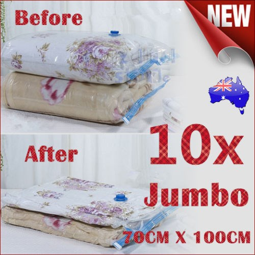 10X JUMBO Vacuum Storage Bags