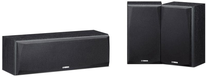 Yamaha NS-P51 Surround & Centre Speaker Package (Black)