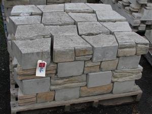 Pallet Approx 64 Retaining Wall Blocks Ezi Stone Bush