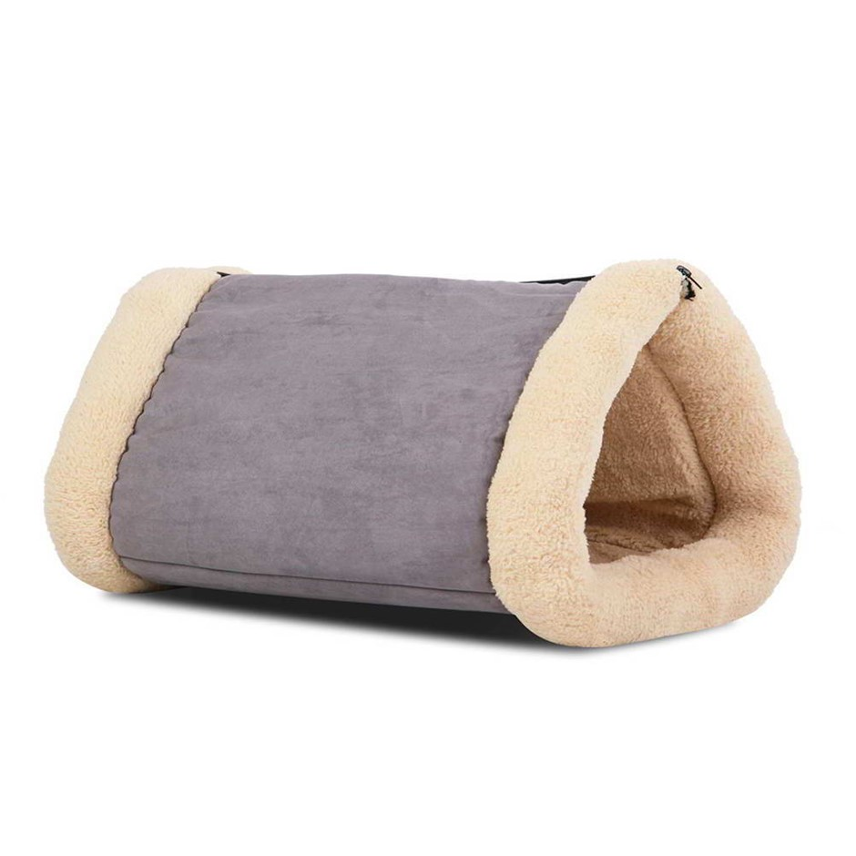 i.Pet Soft Cave Bed/Mat - Grey