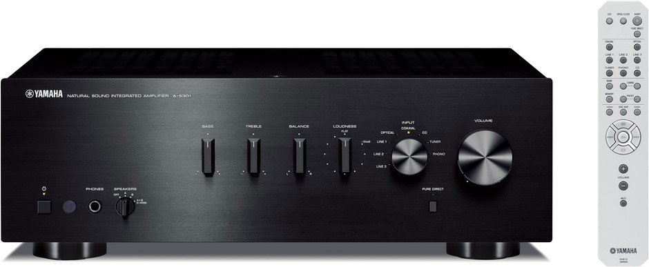 Yamaha A-S301 Natural Sound Integrated Amplifier (Black)