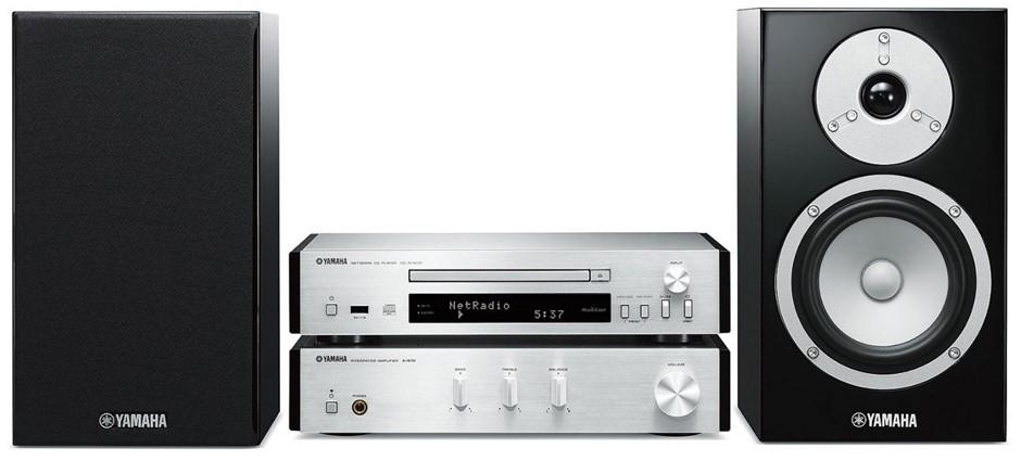 Yamaha MCRN670 Micro HiFi System (Silver)