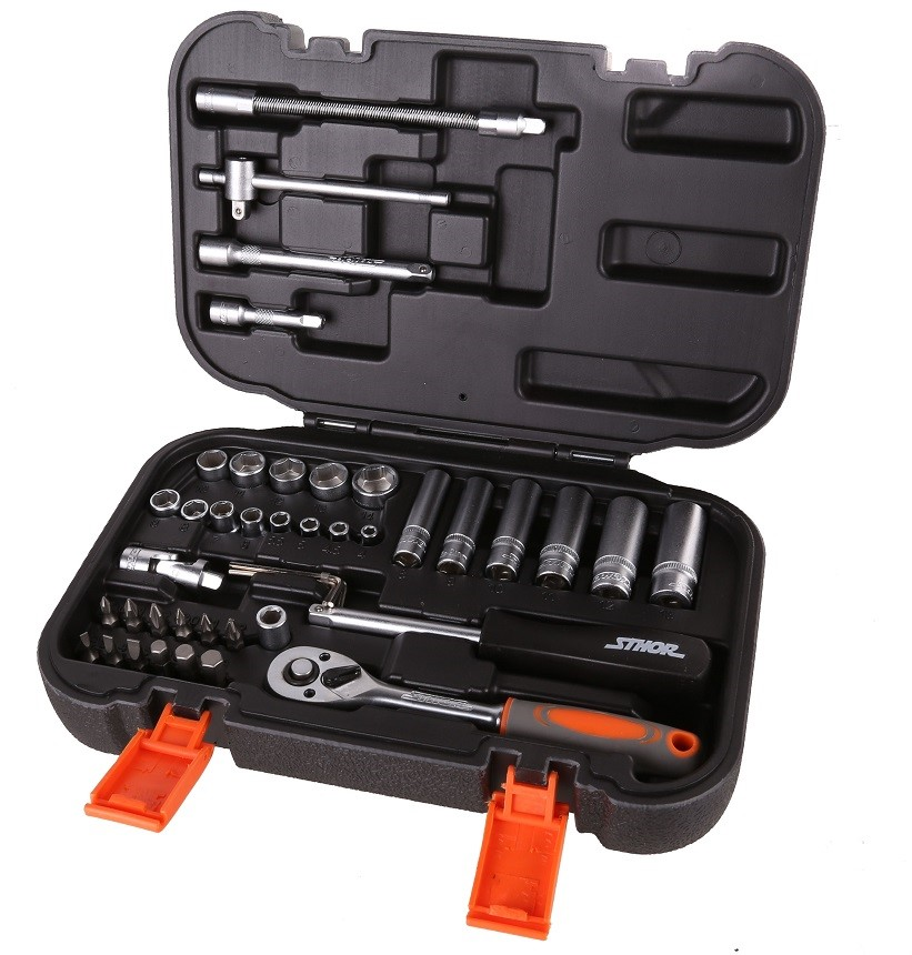 STHOR 42pc 1/4 Drive Socket Set, Sockets 4mm to 14mm. Buyers Note - Discoun