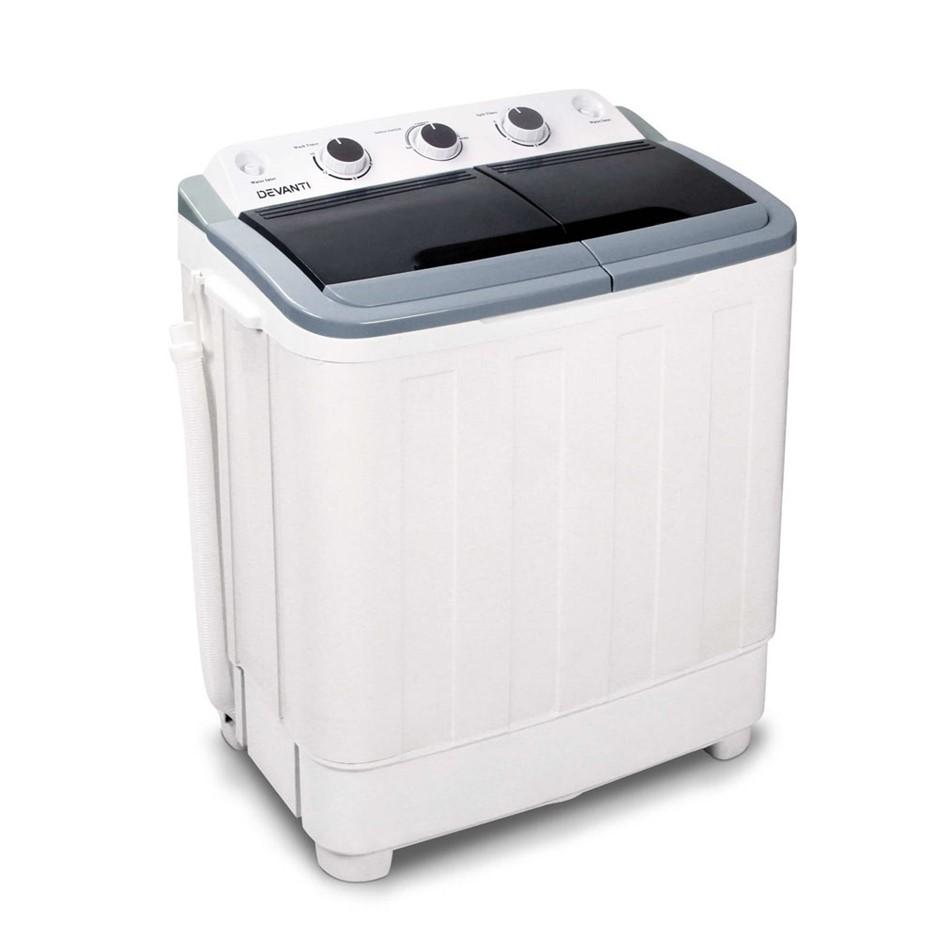 Devanti 5KG Mini Portable Washing Machine - White