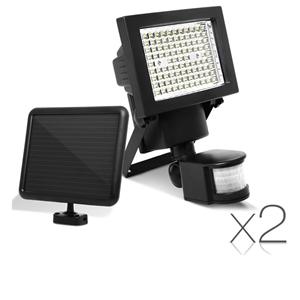 2x 100 LED Solar Sensor Light