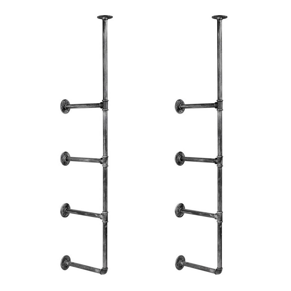 Artiss DIY Metal Ceiling Pipe Shelf