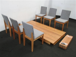freedom avenue dining table and 6 x dining chairs auction 0058