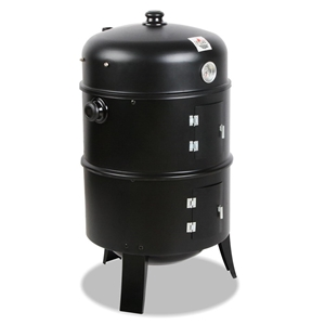 Grillz 3-in-1 Charcoal BBQ Smoker - Blac