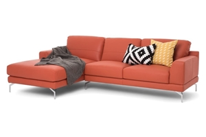 New Leather Sofa Italian Made Lounge With Chaise Youma