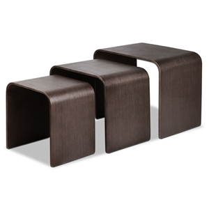 Artiss Set of 3 Wooden Coffee Table - Wa