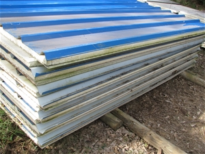 12x Insulated Cladded Roofing Panels Lincalume