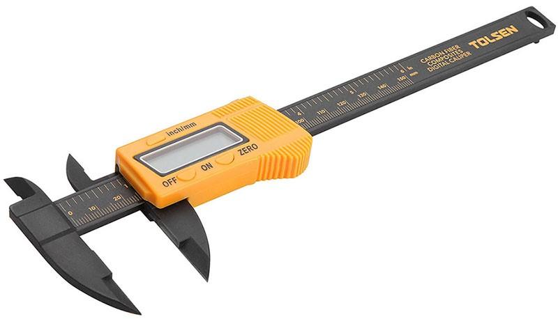 TOLSEN Carbon Fibre Composites Digital Caliper, 150mm. Buyers Note - Discou