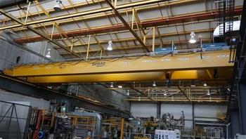 Cranes Located in Engine Shop