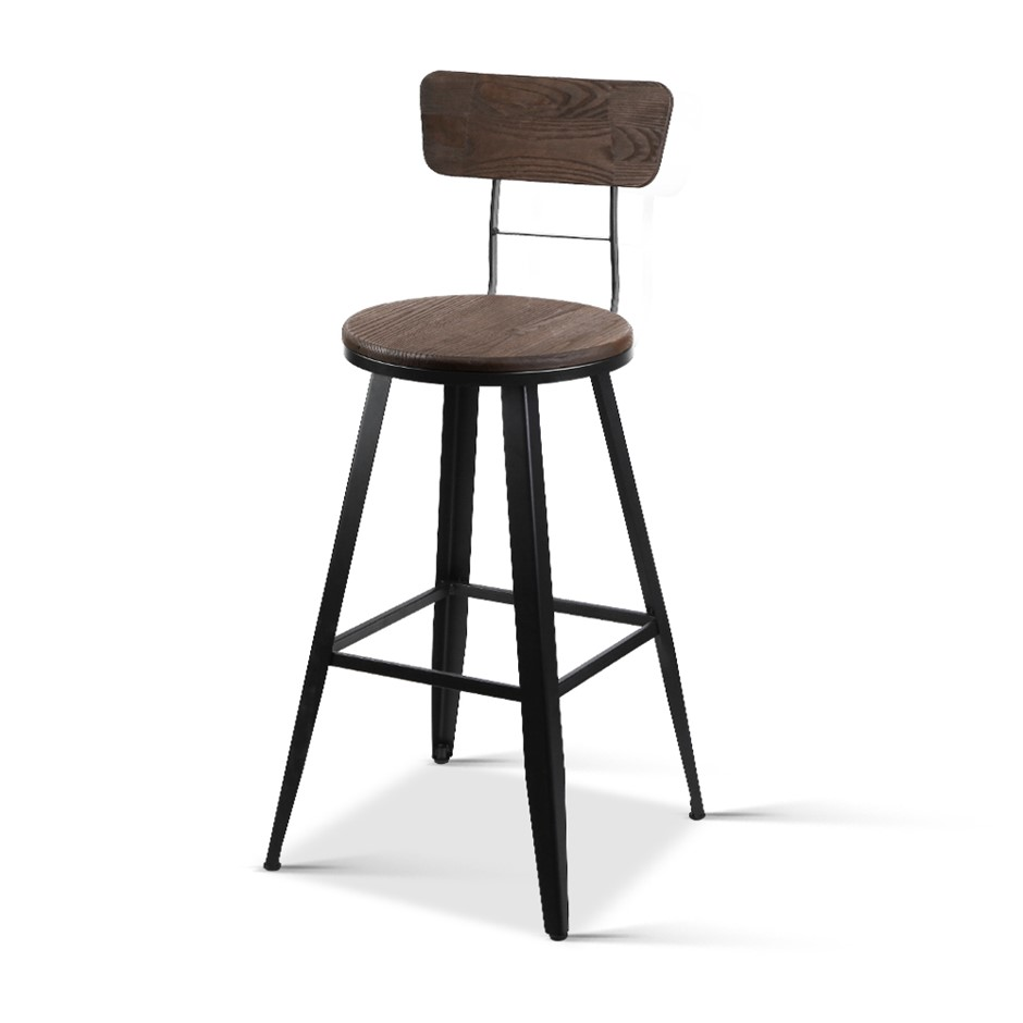 complete home furniture packages   Industrial Bar Stools with Backrest    66cm. home starter furniture packages   Graysonline