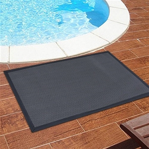 Indoor outdoor water resistant rug liquorice colour for Water resistant outdoor rug