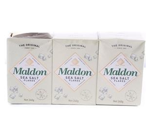 3 x MALDON Sea Salt Flakes  240g  Buyers Note - Discount