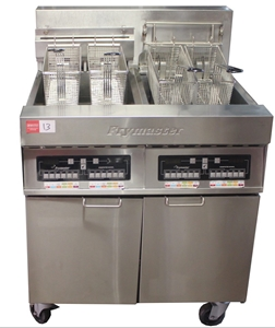FRYMASTER ELECTRIC DOUBLE PAN DEEP FRYER, COMMERCIAL KITCHEN ...