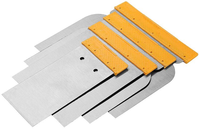 6 Packs of 4 x TOLSEN Wall Scraper Set, Sizes: 50, 80, 100 & 120mm. Buyers