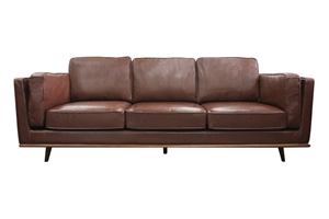 Solid wooden frame Sofa 3 Seater Brown P