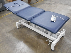 Mobile medical bed white metal frame, bl