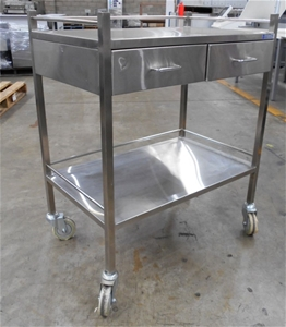 Stainless steel double draw medical trol