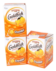 8 Bags x GOLDFISH Baked Snacks Crackers.