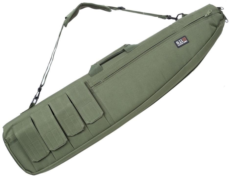 Canvass Rifle Bag 1200mm c/w Shoulder Strap and Ammunition Pockets, Army Gr