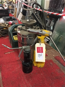 Stainless Steel Pressure Sprayer, pneumatic Rivet Gun and Oil Can  Inspecti