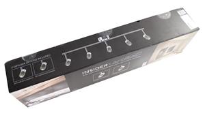Artika Insider 5 Led Track Lighting Fixture 100cm Chrome Finish Dimmable W