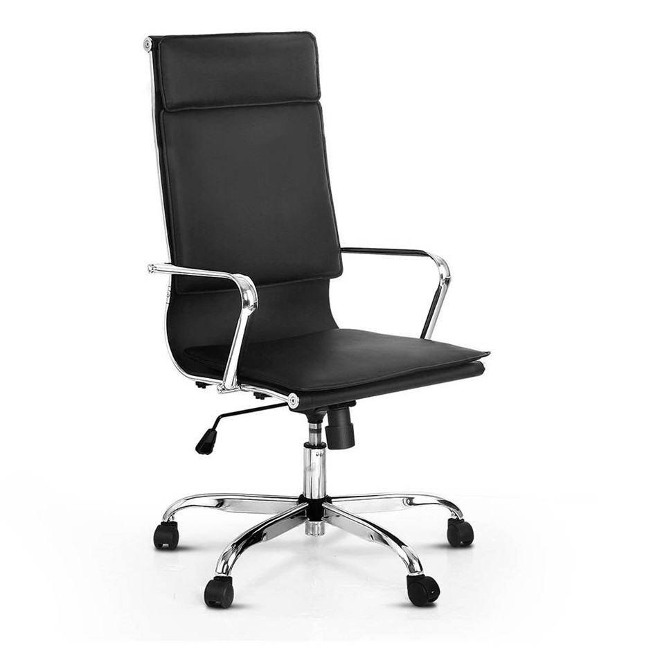 Pu Leather High Back Office Desk Chair Black
