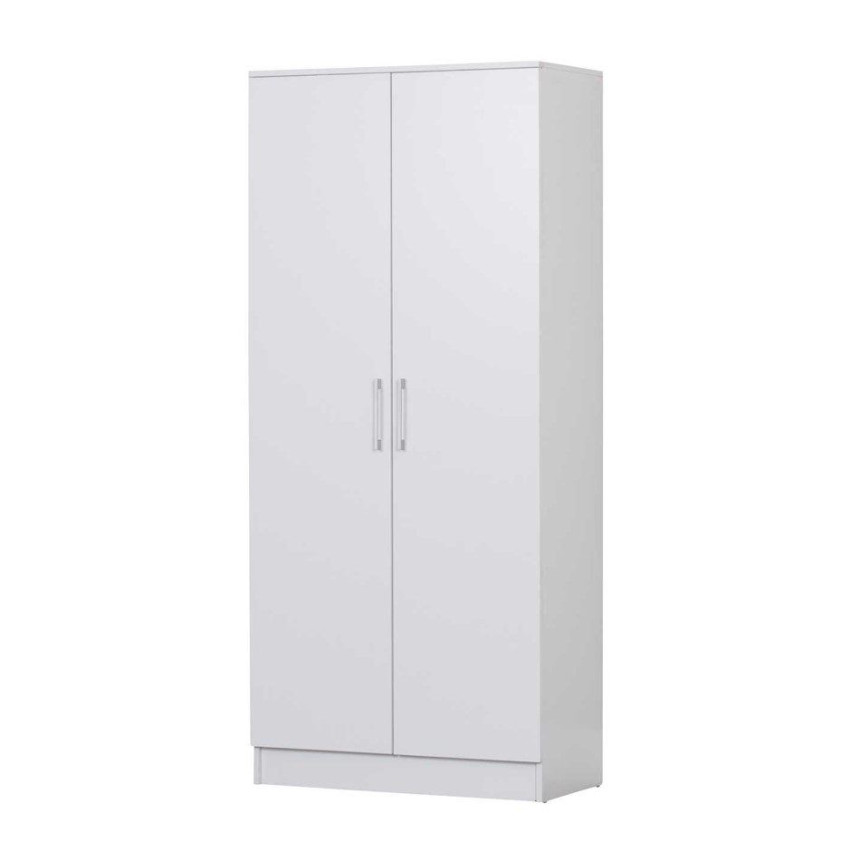 Multi-purpose Double Door Broom Cupboard - White