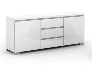 Elara High Gloss Buffet Unit - White