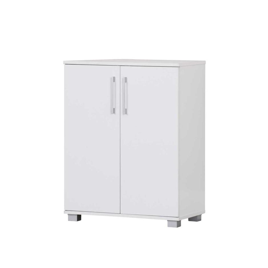 Multi-purpose 2 Door Low-line Cabinet - White