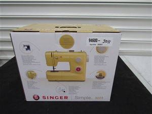 1b0667ab7 Singer Simple 3223 Sewing Machine - Yellow. Auction (0075-3800779 ...