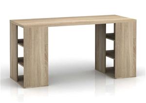 Bloc Modern Desk with Cube Shelves - Lig