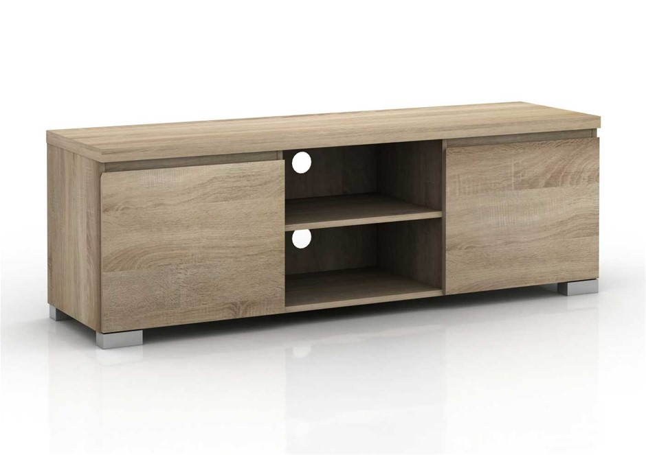Elara 2 Compartments 2 Door Entertainment Unit - Light Sonoma Oak