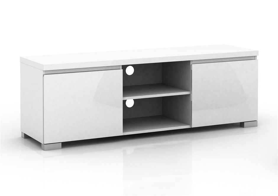 Elara High Gloss Entertainment Unit - White