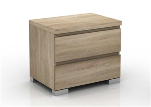 Elara 2 Drawer Bedside Table - Light Son