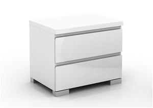 Elara 2 Drawer High Gloss Bedside Table